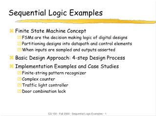 Sequential Logic Examples