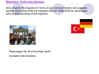 Read pages 78+79 of the wider world Complete note templete.