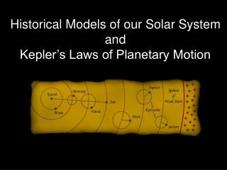 Historical Models of our Solar System and  Kepler's Laws of Planetary Motion