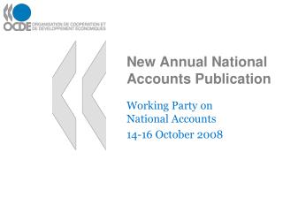 New Annual National Accounts Publication