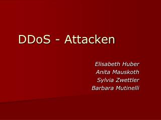 DDoS - Attacken
