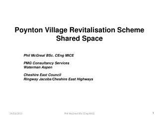Poynton Village Revitalisation Scheme Shared Space