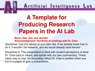 A Template for Producing Research Papers in the AI Lab
