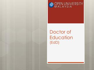 Doctor of Education  (EdD)