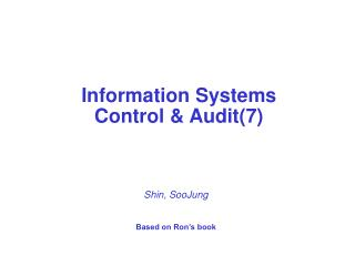 Information Systems  Control & Audit(7)