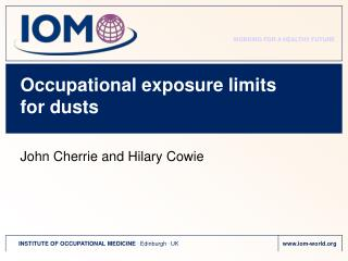 Occupational exposure limits for dusts