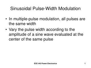 Sinusoidal Pulse-Width Modulation