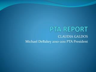 PTA REPORT