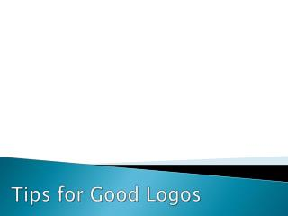 Tips for Good Logos
