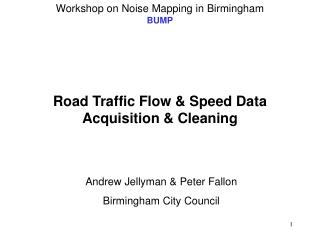 Road Traffic Flow & Speed Data Acquisition & Cleaning