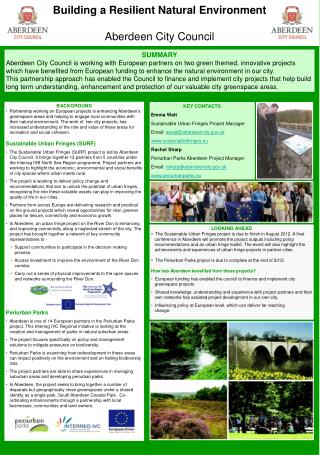 Building a Resilient Natural Environment Aberdeen City Council