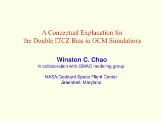 A Conceptual Explanation for  the Double ITCZ Bias in GCM Simulations