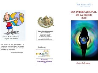 "Instituto de Educación Secundaría ""SAN JUAN BOSCO"" c/ Francisco de Goya s/n 30800 LORCA (Murcia)"