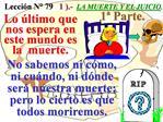 Lecci n N  79   1 .-  LA MUERTE Y EL JUICIO.