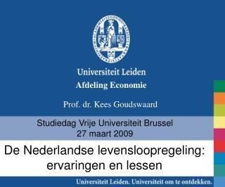 Studiedag Vrije Universiteit Brussel 27 maart 2009