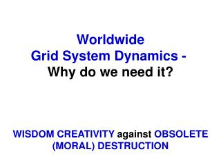 1.  System Dynamics  for  humankind  survival