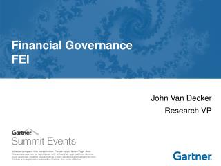 Financial Governance FEI