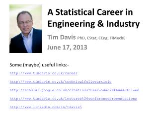 A Statistical Career in Engineering & Industry