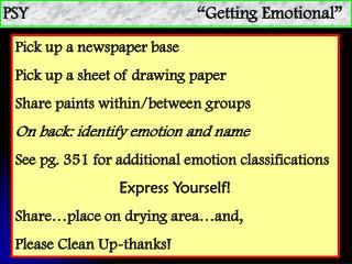 """PSY """"Getting Emotional"""""""