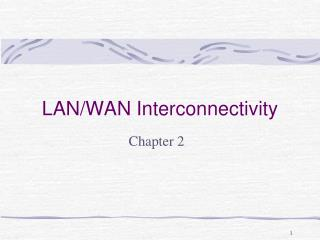 LAN/WAN Interconnectivity