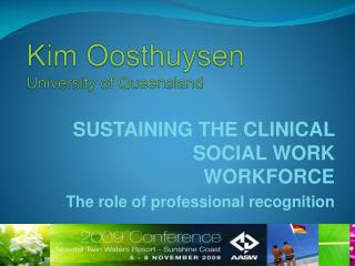 Kim  Oosthuysen University of Queensland
