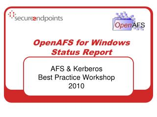 OpenAFS for Windows  Status Report