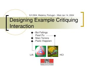 Designing Example Critiquing Interaction