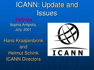 ICANN: Update and Issues