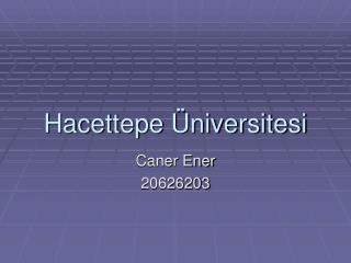 Hacettepe Üniversitesi