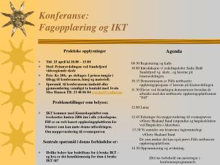Konferanse:  Fagopplæring og IKT