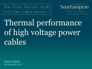 Thermal performance of high voltage power cables