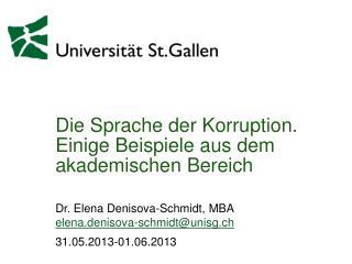 Die Sprache der Korruption. Einige Beispiele aus dem akademischen Bereich