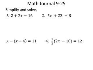 Math Journal 9-25