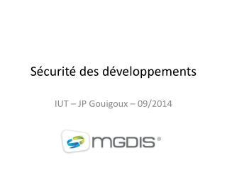 Sécurité des développements