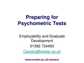 Preparing for  Psychometric Tests