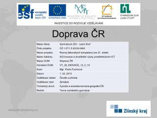 Doprava ČR