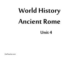 World History Ancient Rome