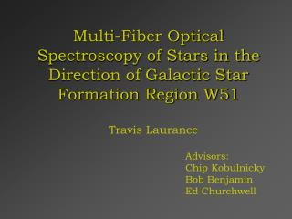 Multi-Fiber Optical Spectroscopy of Stars in the Direction of Galactic Star Formation Region W51