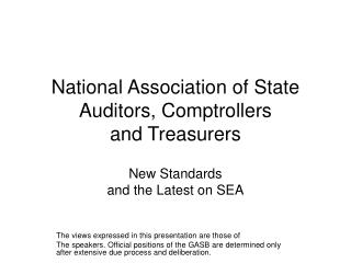 National Association of State Auditors, Comptrollers  and Treasurers