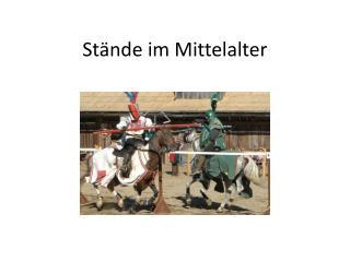 Stände im Mittelalter