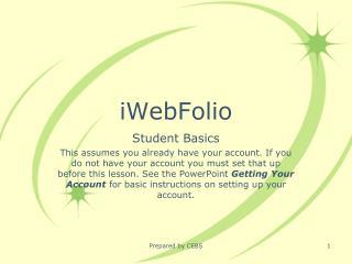 iWebFolio