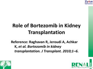 Role of Bortezomib in Kidney Transplantation