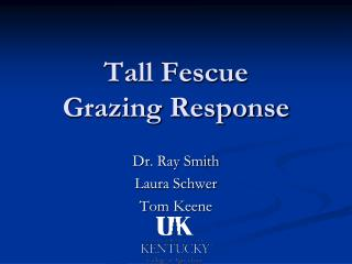 Tall Fescue Grazing Response
