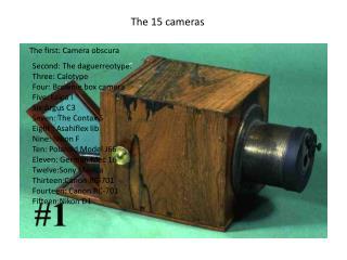 The 15 cameras