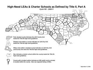 High-Need LEAs & Charter Schools as Defined by Title II, Part A Cycle VIII – 2009/11