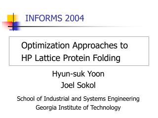 INFORMS 2004