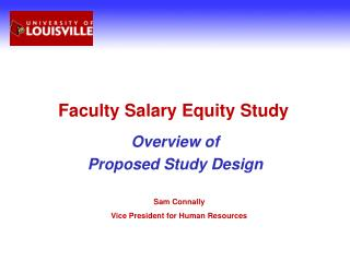Faculty Salary Equity Study