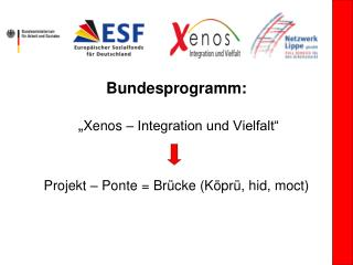 "Bundesprogramm:  "" Xenos – Integration und Vielfalt"" Projekt – Ponte = Brücke (Köprü, hid, moct)"