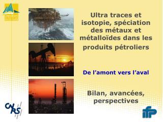 Ultra traces et isotopie, spéciation des métaux et métalloïdes dans les produits pétroliers