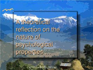 A theoretical reflection on the nature of psychological properties …